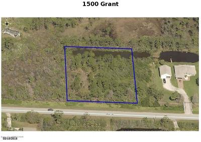 Residential Lots & Land For Sale: 1500 Grant Road