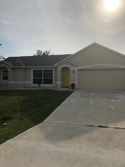 Palm Bay Single Family Home For Sale: 2374 Angel Road SE #32909