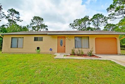 Palm Bay Single Family Home For Sale: 698 Cornelia Avenue SE