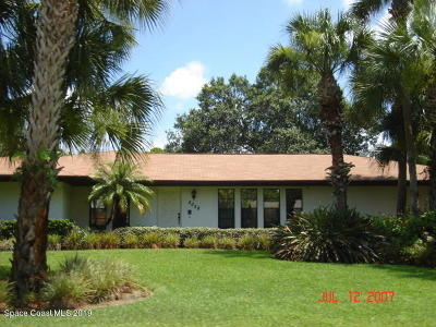 Cocoa Single Family Home For Sale: 4658 S Friday Circle