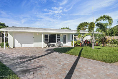 Indialantic Single Family Home For Sale: 108 Mercury Court