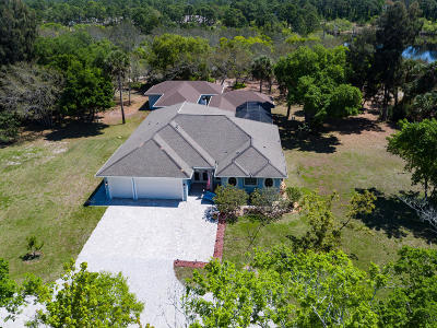 Merritt Island Single Family Home For Sale: 2235 Chase Hammock Road