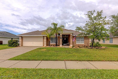 Rockledge Single Family Home For Sale: 1041 Kingfisher Way