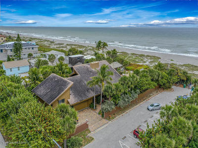 Viera, Melbourne, Indialantic, Satellite Beach, Melbourne Beach, Cocoa Beach, Eau Gallie, Palm Shores, Indian Harbour Beach, West Melbourne Single Family Home For Sale: 281 S Atlantic Avenue S