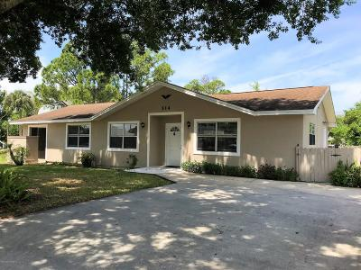 Sebastian Single Family Home For Sale: 514 Croton Avenue