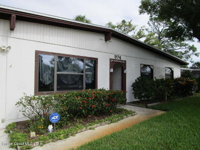 Rockledge Single Family Home Contingent: 974 Pinson Boulevard