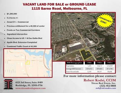 Melbourne Residential Lots & Land For Sale: 1115 Sarno Road
