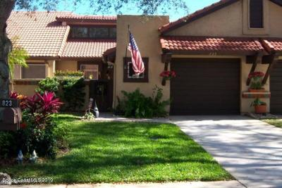 Palm Bay Townhouse For Sale: 823 Brae Court NE
