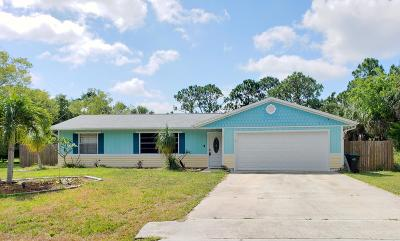 Palm Bay Single Family Home For Sale: 182 NW Delk Avenue