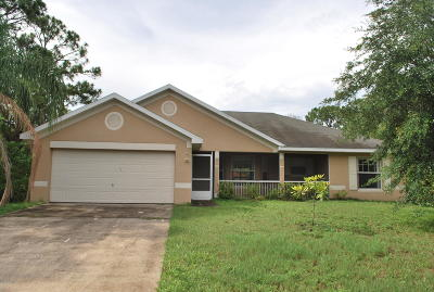 Palm Bay Single Family Home For Sale: 867 Sorrel Street NW