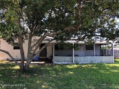 Cocoa Single Family Home For Sale: 1662 Terrace Street