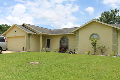 Palm Bay Single Family Home For Sale: 1500 NW Jacobin Street NW