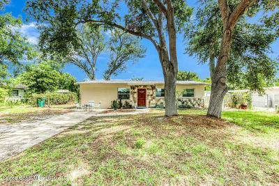 Merritt Island Single Family Home For Sale: 1520 Cunningham Avenue