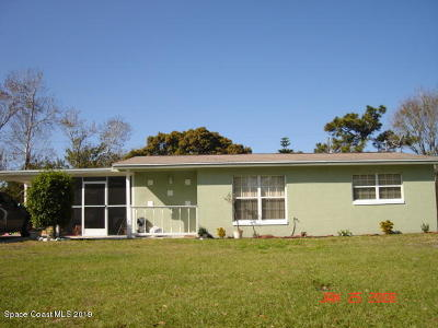 Titusville Single Family Home For Sale: 1820 Kirby Drive