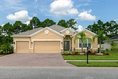 Palm Bay Single Family Home For Sale: 521 Easton Forest Cir Circle SE