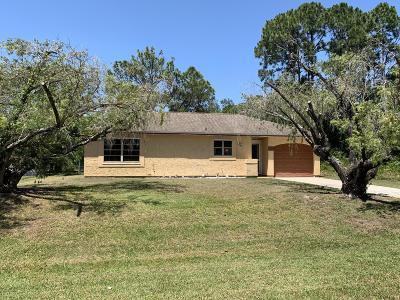 Palm Bay Single Family Home For Sale: 836 Upland Avenue SE