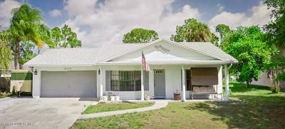 Palm Bay Single Family Home For Sale: 303 Evergreen Street NE