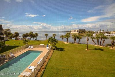 Cocoa Beach Condo For Sale: 3873 S Banana River Boulevard #301