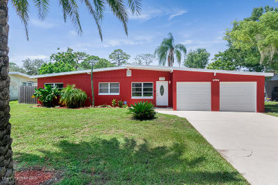 Titusville Single Family Home For Sale: 112 S Hilltop Drive S