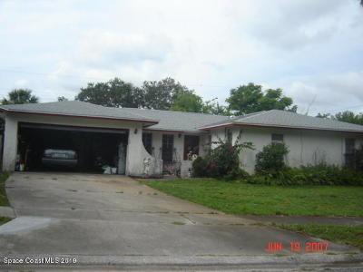 Titusville Single Family Home Contingent: 4065 Dianthus Lane