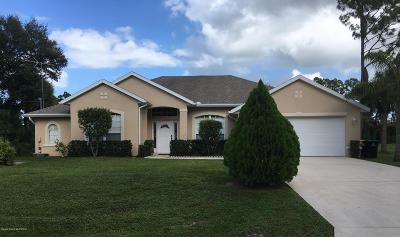 Palm Bay Single Family Home For Sale: 1311 Heitzman Avenue SW
