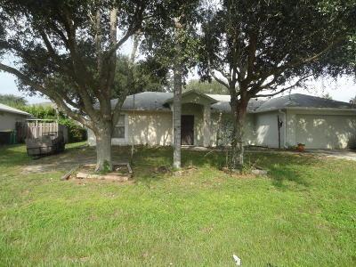 Cocoa Single Family Home For Sale: 6434 Bamboo Avenue