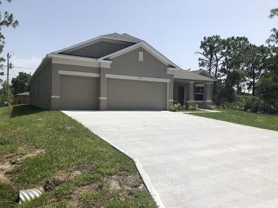 Palm Bay Single Family Home For Sale: 501 Reading Street SE