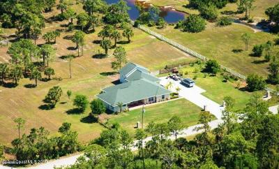 Malabar Single Family Home For Sale: 1720 Benjamin Road