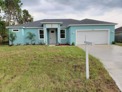 Palm Bay Single Family Home For Sale: 338 Brickell Street SE