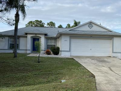 Palm Bay Single Family Home For Sale: 1071 Ray Road SE