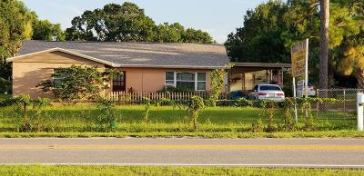 Palm Bay Single Family Home For Sale: 2682 Palm Bay Road NE