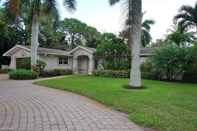 Naples Single Family Home For Sale: 540 Myrtle Rd