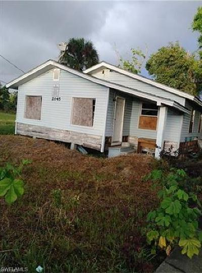 Fort Myers Single Family Home For Sale: 2045 Carver Ave