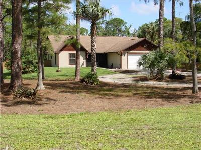 Golden Gate Estates Single Family Home For Sale: 3511 SW 19th Ave