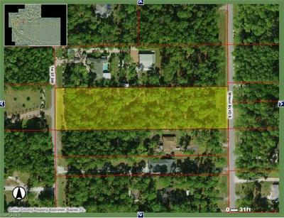 Naples Residential Lots & Land For Sale: Xxx 1st Street SW