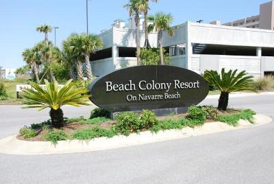 Navarre Condo/Townhouse For Sale: 8515 Gulf Boulevard # 13C