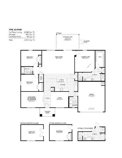 Milton Single Family Home For Sale: 4724 Determination Court #Lot 19 L