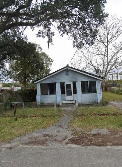 Jacksonville FL Single Family Home For Sale: $45,000