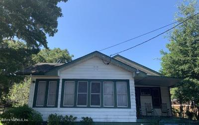 Jacksonville Single Family Home For Sale: 110 W 32nd St