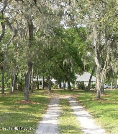 St Augustine Single Family Home For Sale: 6448 Jack Wright Island Rd