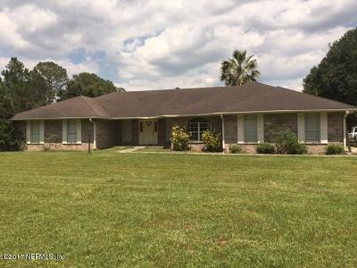 Macclenny Single Family Home For Sale: 3772 Canal Rd
