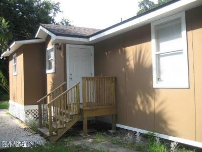 Jacksonville FL Single Family Home For Sale: $59,900