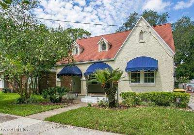 Jacksonville Single Family Home For Sale: 1722 Belmonte Ave