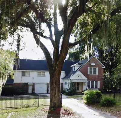 Jacksonville Single Family Home For Sale: 2274 Lake Shore Blvd