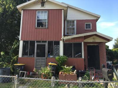 Jacksonville Single Family Home For Sale: 318 West 19th St