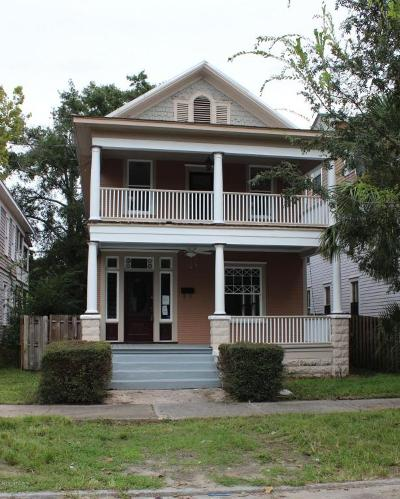 Jacksonville Single Family Home For Sale: 1729 North Market St
