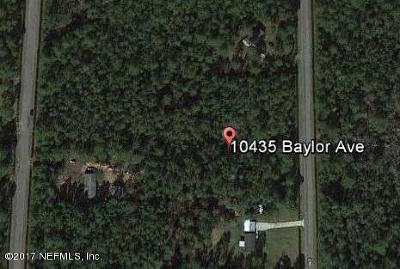 St. Johns County Residential Lots & Land For Sale: 10435 Baylor Ave