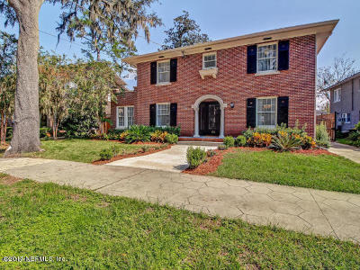 Jacksonville Single Family Home For Sale: 3336 Oak St
