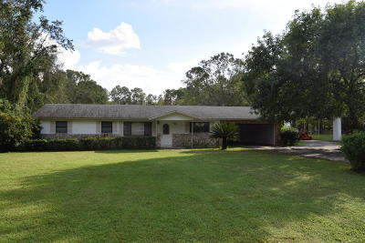 Jacksonville Single Family Home For Sale: 6974 Pitts Rd