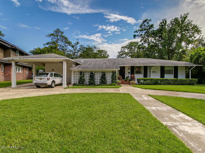 Jacksonville Single Family Home For Sale: 5145 Pirates Cove Rd